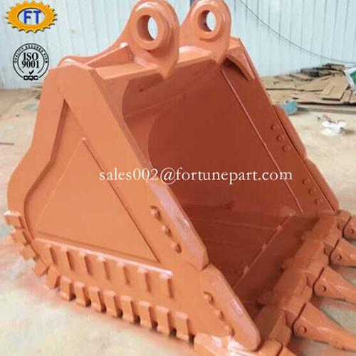 Excavator attachment heavy duty rock bucket